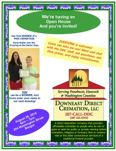 You're invited to the Downeast Direct Cremation Open House